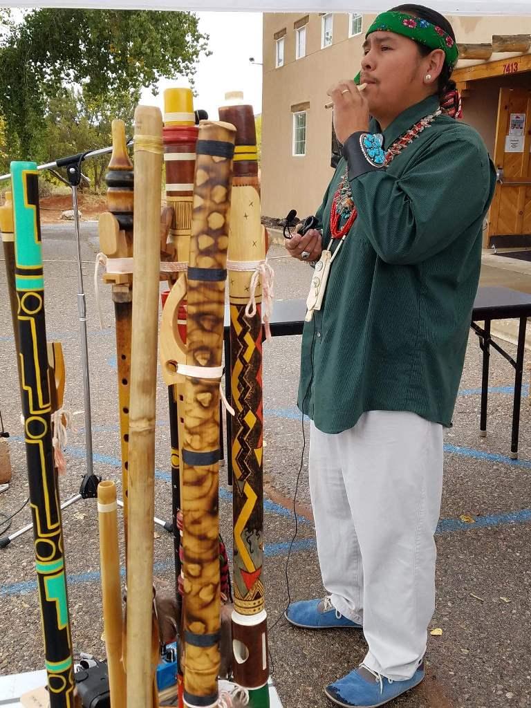 Marlon Magdelena and homemade flutes